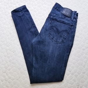 Levi's 710 super skinny jeans dark wash mottled